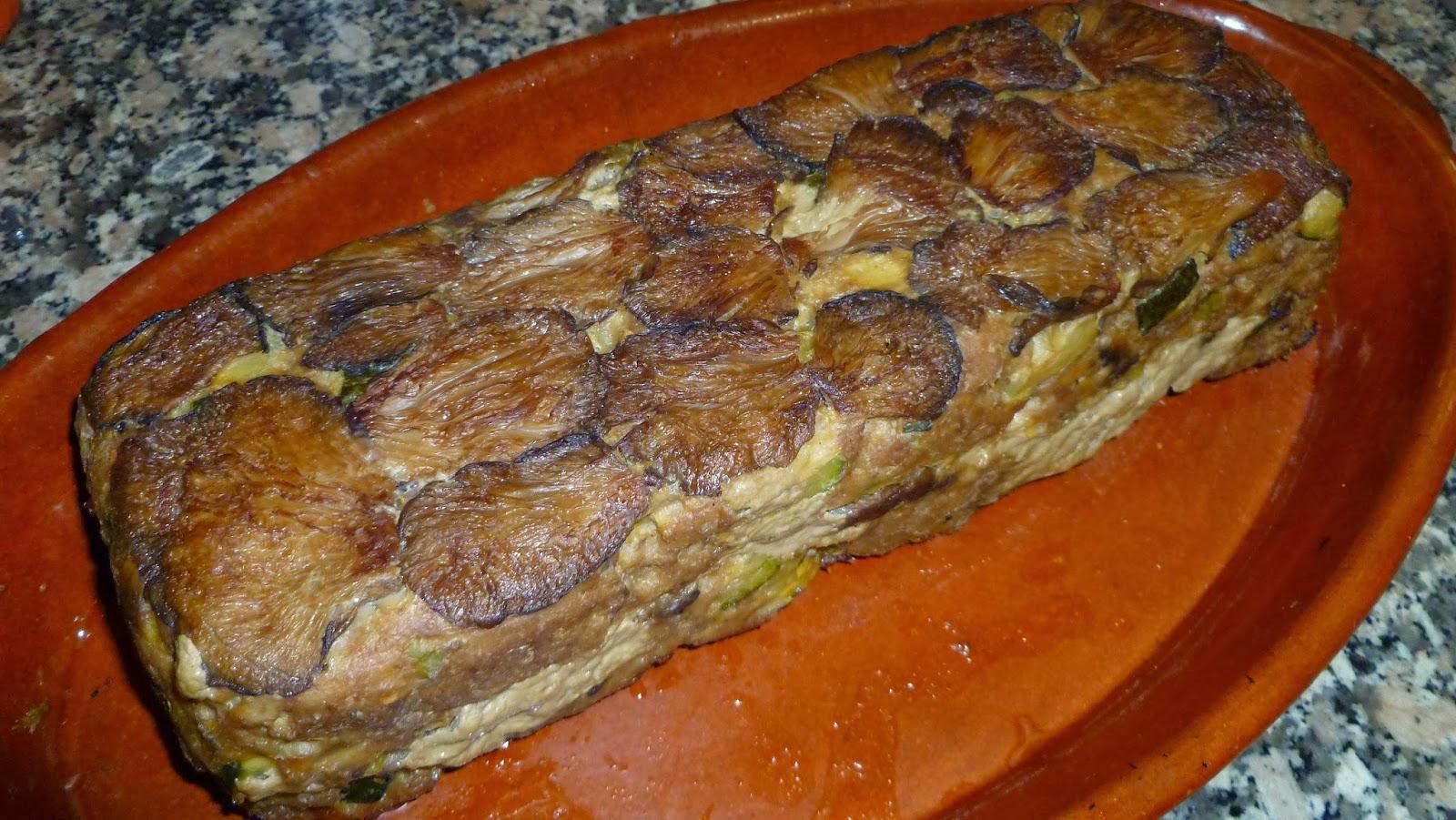 Pastel de carne con gírgolas