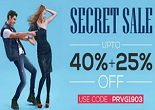 Trendin : Secret Sale : Up to 40% + Extra 25% OFF on All Products | No Minimum Purchase