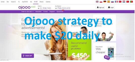 Ojooo strategy to Earn $18-$20 daily