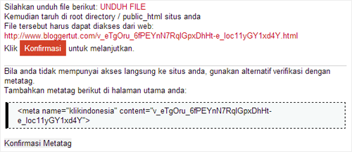 verifikasi klik indonesia