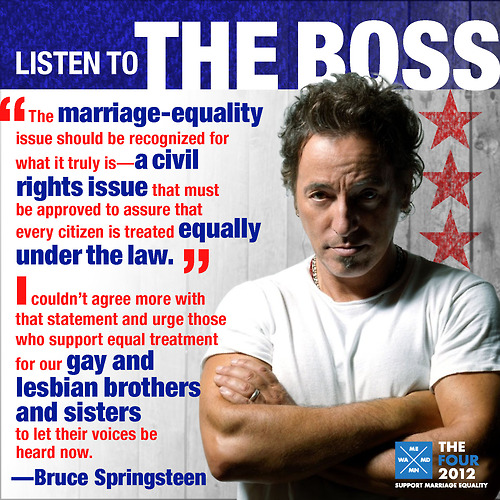 Bruce Springsteen For Marriage Equality