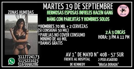 MARTES 19 DE SEPTIEMBRE DE 3 PM A 11 PM HERMOSAS CHICAS HACEN GANG BANG