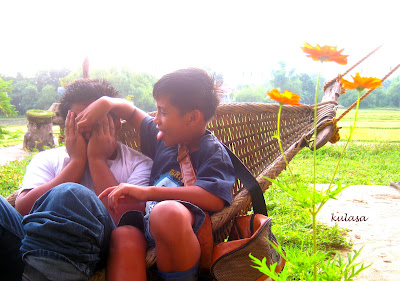 kids on a hammock