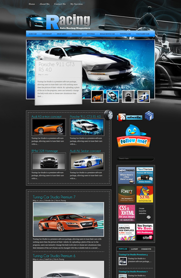 Racing Free WordPress Theme