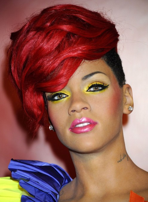 Punk Hair style: Rihanna Short Red Hairstyles