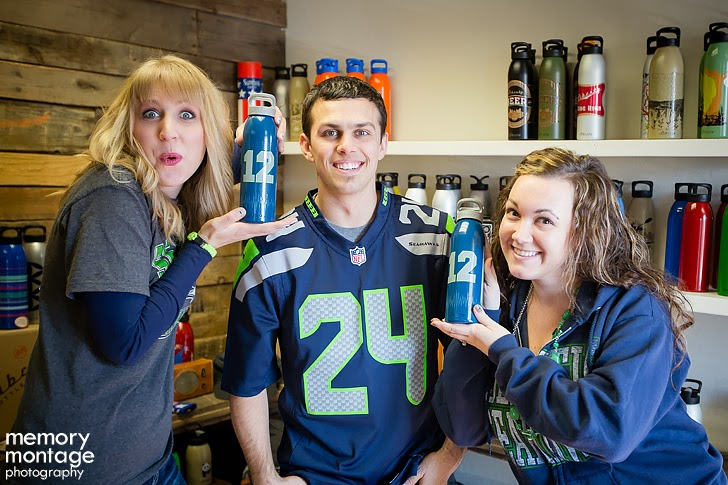 Liberty Bottleworks Seattle Seahawks fans in Yakima WA
