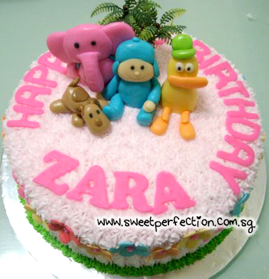 Sweet Perfection Cakes Gallery Code Pocoyo 01 Happy Birthday Zara