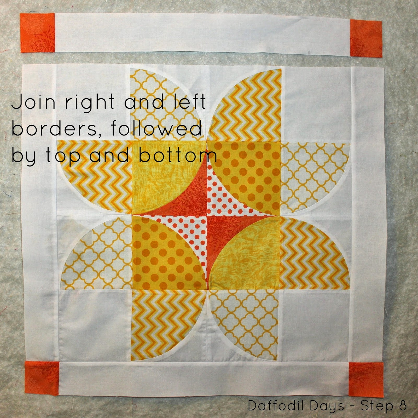 Daffodil Days {Throw Pillow Tutorial} designed by Sarah Nunes for Fort Worth Fabric Studio