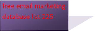 free email marketing database list 225 | free email marketing database download