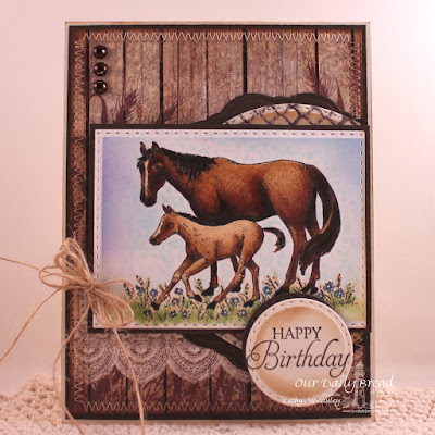 Our Daily Bread Designs Stamp Set: Saddle Up, Our Daily Bread Designs Paper Collection: Vintage Ephemera, Our Daily Bread Designs Custom Dies: Double Stitched Circles, Double Stitched Rectangles, Doily