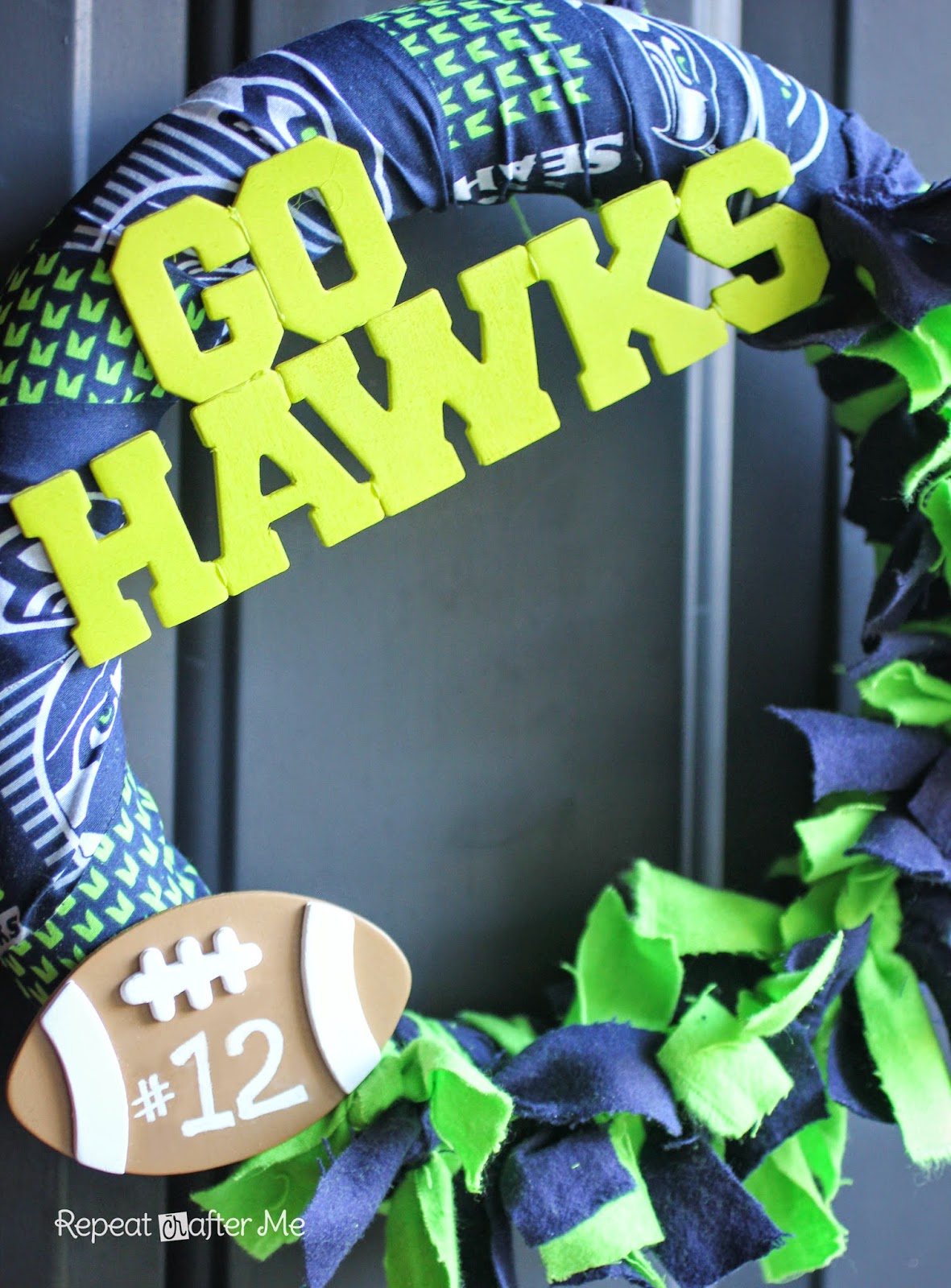 Repeat crafter me football team wreath