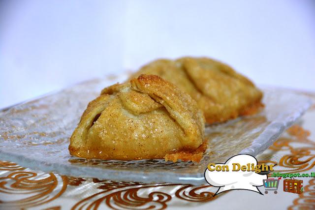 כיסוני תפוחים בבצק עלים Puff pastry apple pockets