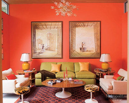 Fiorito interior design let 39 s talk about color four - Blue and orange color scheme for living room ...
