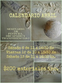 SEMINARIOS: CALENDARIO ABRIL