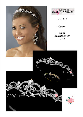 Discount Bridal Prices: shop for bridal direct~~Mystique Rhinestone Tiara~~HP-179