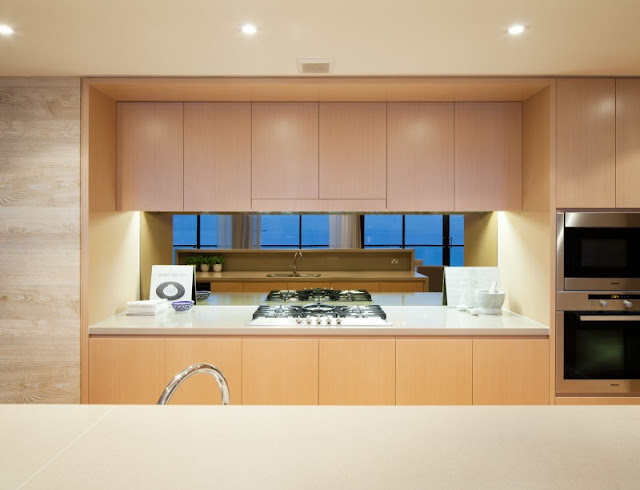 Photo of modern brown kitchen furniture