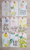 Tags and faux postage stamps