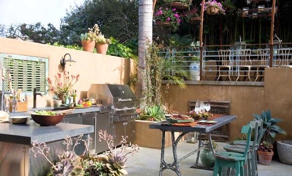 Dise o de cocina al aire libre ideas para decorar - Cocinas con salida al patio ...