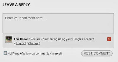 Comment via Google+ Account