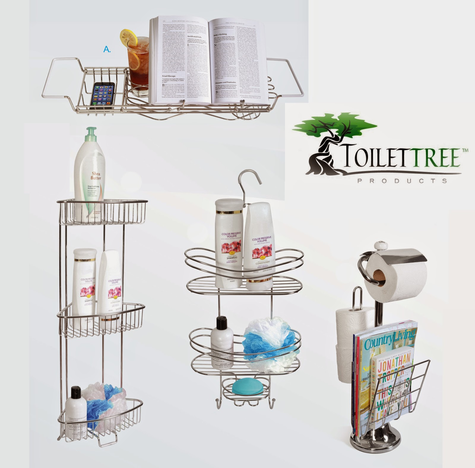 Hanging Off The Wire: ToiletTree Stainless Steel Bathroom Accessories