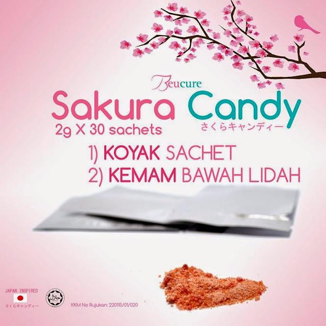 Cara Makan Sakura Candy