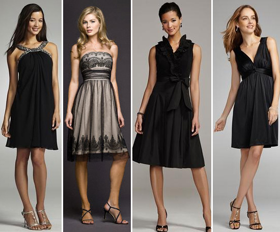 sp davids bridal black dress