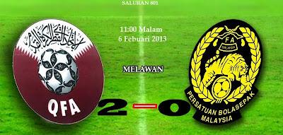 keputusan malaysia vs qatar 6 februari 2013