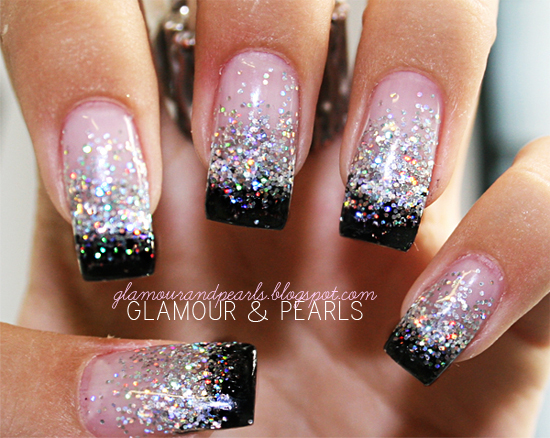 glamour & pearls nails