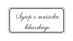 Etykiety syrop z mniszka lekarskiego