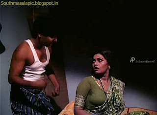 Silk Smitha Urvashi Hot Side Mulai in Blouse Saree