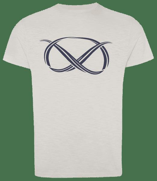 Camiseta con logo de Farrell en color crema