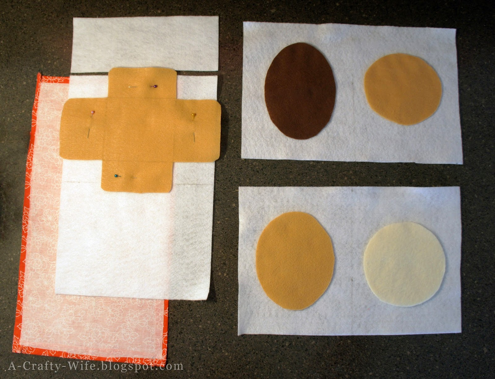 Felt faces and book templates cut and ready to sew | A Crafty Wife