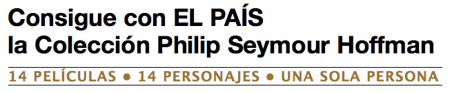 Philip Seymour Hoffman - Promociones El País