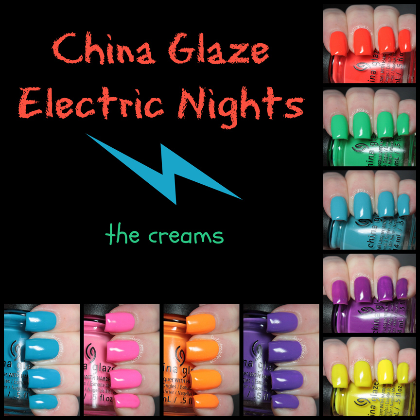 china glaze electric nights review swatches