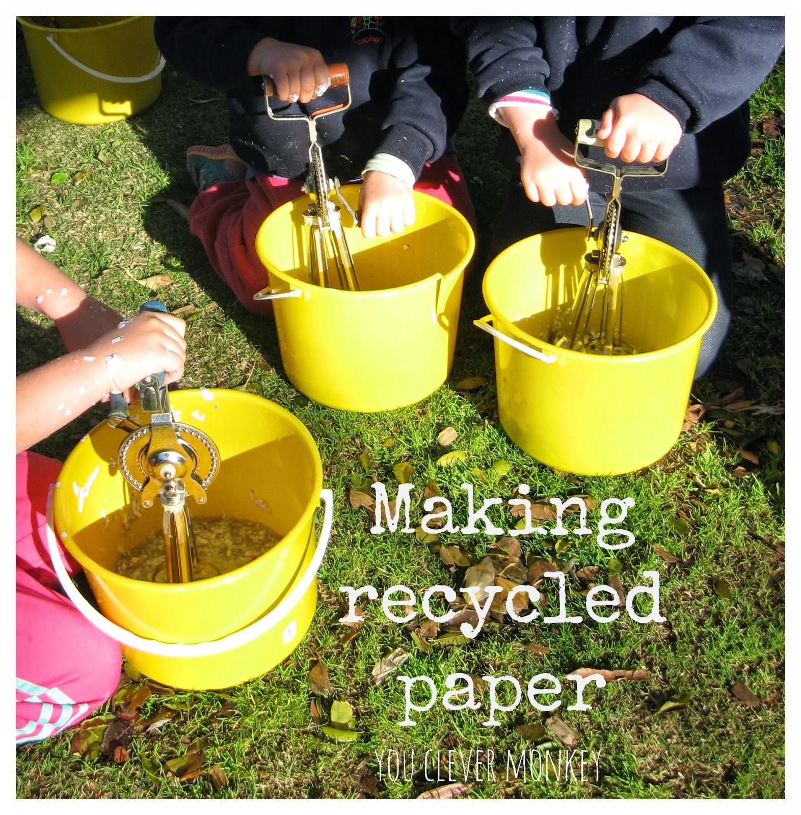 How to easily make recycled paper with preschoolers you for How to make recycled paper crafts