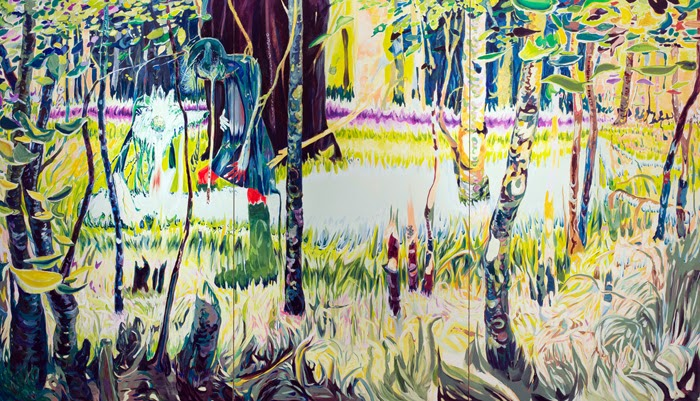 Forests still be inside of a seed  1940 x 3360mm / oil on canvas / 2014