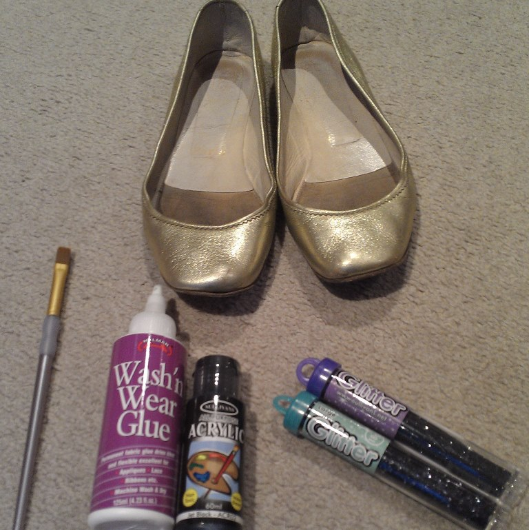 hermosa vogue diy glitter shoes for cheap