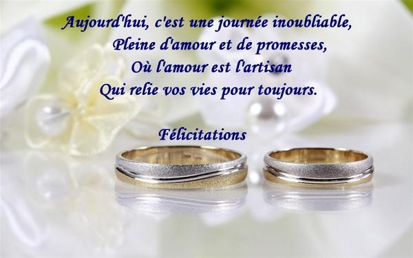 exemples de textes et cartes de flicitations de mariage - Texte Felicitations Mariage