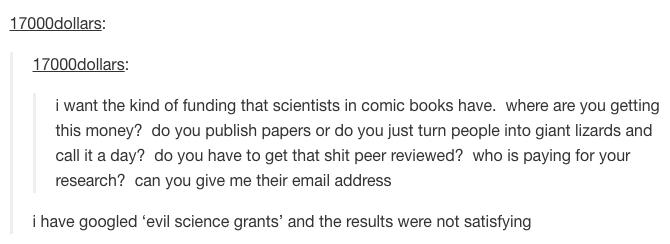 evil science grant