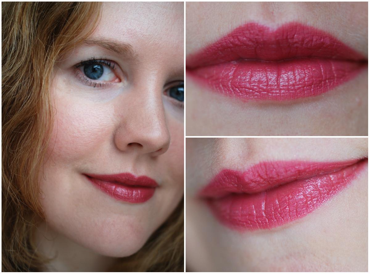 """Tragebilder Lippen Shiseido Shimmering Rouge RS312 """"Iced Rose"""""""