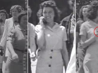 Un teléfono celular en video de 1938