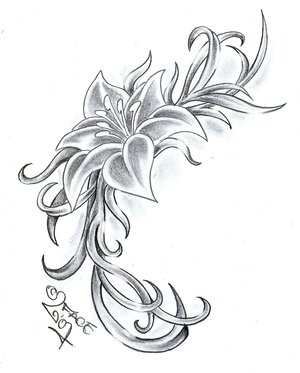 simple flower tattoo designs