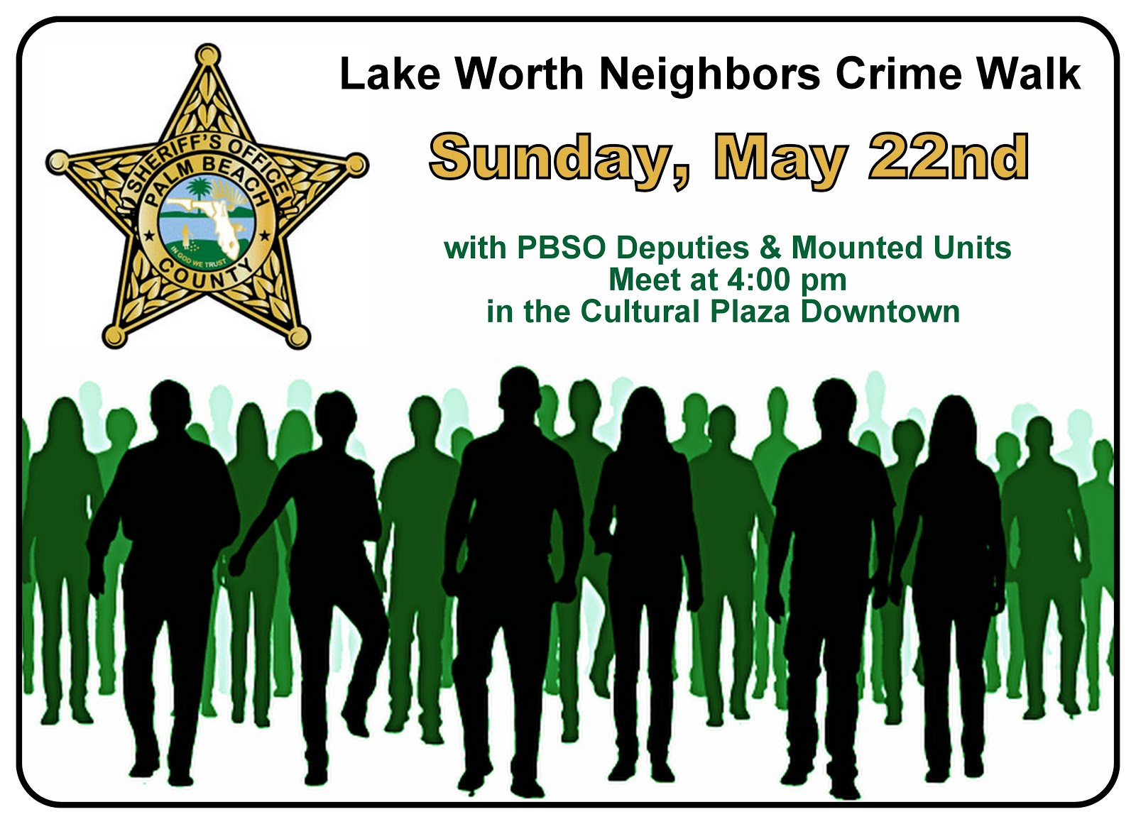 Save the Date: Upcoming Crime Walk later this month