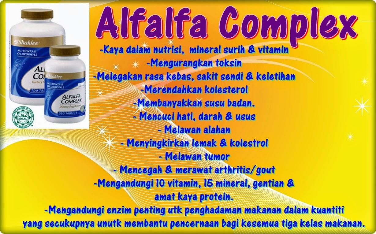 kebaikan alfafa complex shaklee