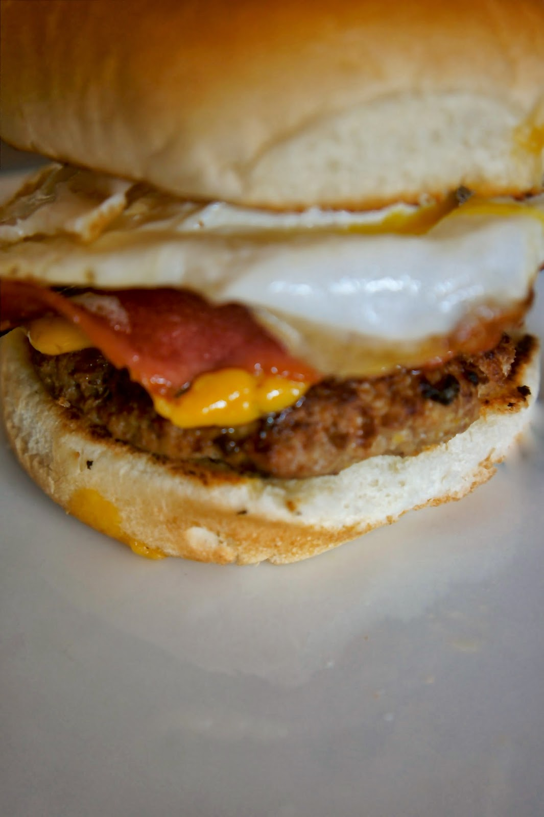Savory Sweet and Satisfying: Bacon and Egg Burger