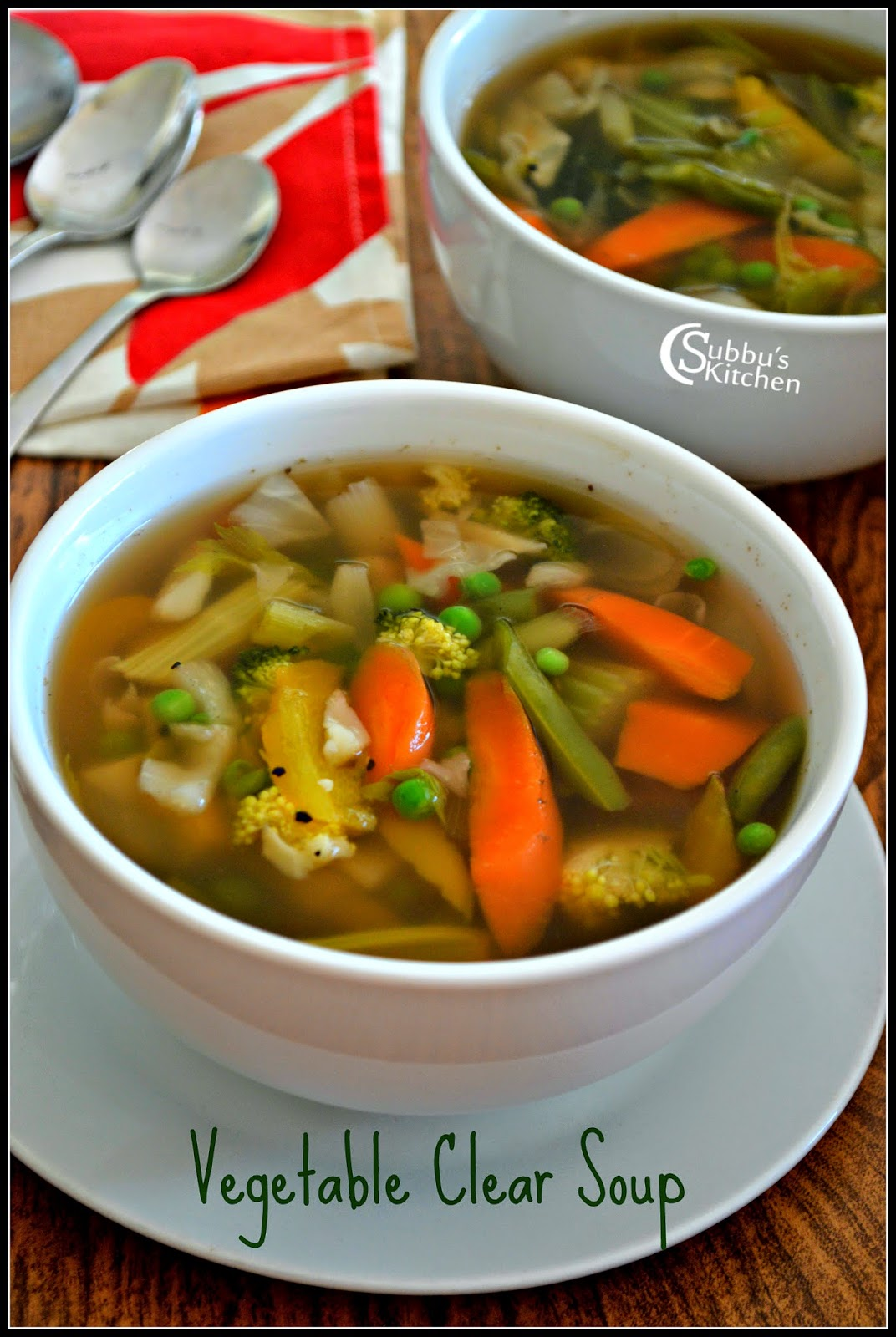 Clear Vegetable Soup Recipe |  Vegetable Clear Soup Recipe