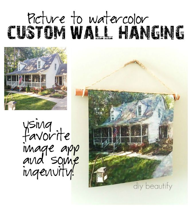 Learn how to turn a favorite image into a watercolor and then create a fabulous Canvas Poster Wall Hanging! | diy beautify