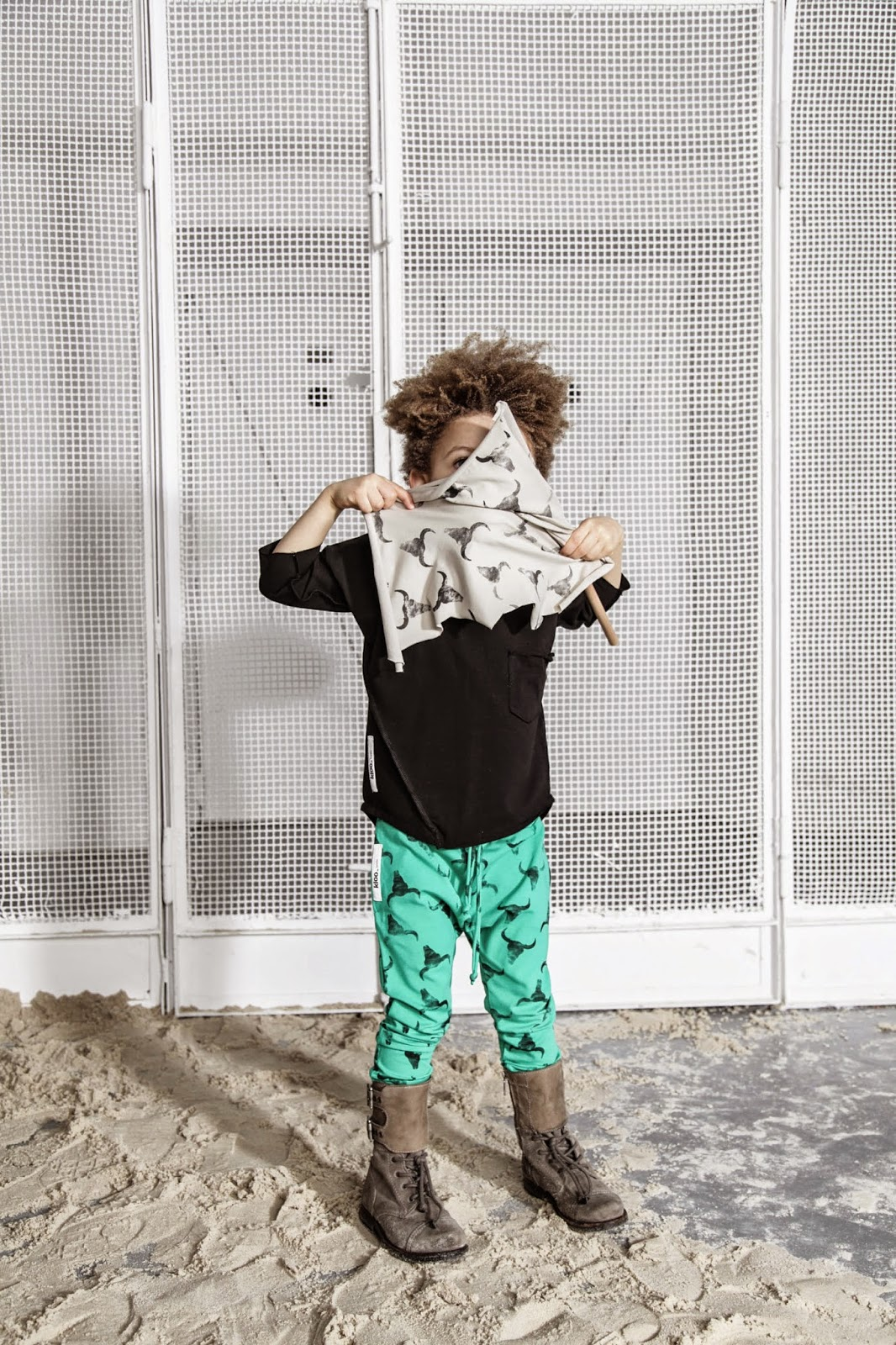 Kloo by Booso - Polish kids fashion spring-summer 2015 - turquoise bull's head