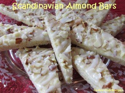 Scandinavian Almond Bars Recipe by CookieClubRecipes