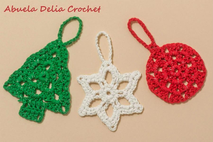 Abuela delia crochet adornos navide os christmas ornaments - Adornos navidenos artesanales ...